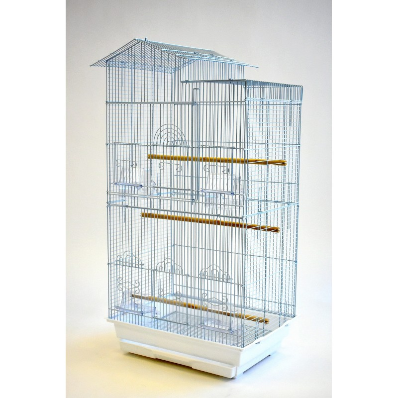 a96860600 Tall House Style Small Bird Cage with big opening door for small bird and  parrot such as finch, canary, budgie, lovebird, parrotlet, cockatiel, etc.